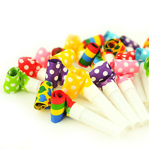 100-x-Party-Blowers-Blowouts-Birthday-Loot-Bag-Filler-Noise-Toy-Foil-Colours