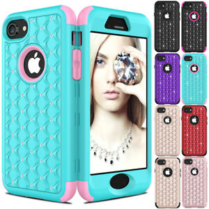 Hybrid-Crystal-Diamond-Bling-Glitter-Rubber-Shockproof-Case-for-iPhone-8-Plus