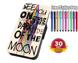 Details About Dark Side Moon Pink Floyd Lyrics Flip Case For Iphone Samsung Huawei Wallet