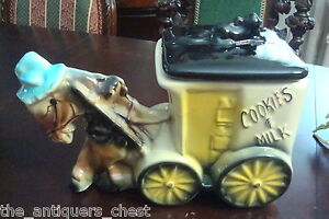 American Bisque Cookies and Milk Donkey Cart Cookie Jar, 1950s[*]