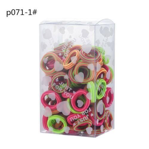 100Pcs Girl Hair Band Ties Elastic Rope Hairband Ponytail Holder Women Hair Ring