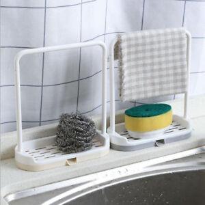 Kitchen-Sponge-Sink-Tidy-Holder-Storage-Rack-Suction-Strainer-Organizer-Rack-New