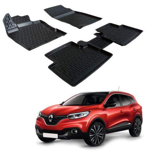 Scoutt 3D TPE Gummifußmatten Gummimatten für Renault Kadjar ab 2015