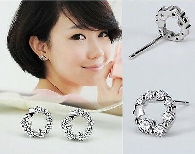 1 Pair 925Sterling Silver Studs Earrings Antiallergic Women Fashion Gift New r