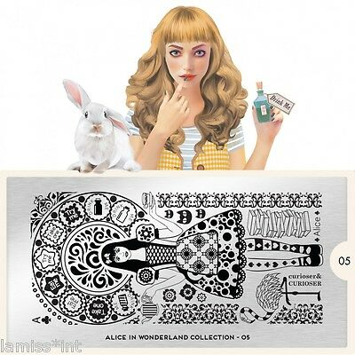 MoYou London ALICE 5 Collection Stamping Schablone, Ornament Schrift