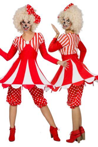 Clown Zikuszelt Zirkus Kostüm Harlekin Kasper Narr Pierrot Manege Damen Karneval
