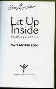 VAN-MORRISON-SIGNED-AUTOGRAPHED-LIT-UP-INSIDE-BOOK-JSA-COA-RARE-MUSIC-LEGEND