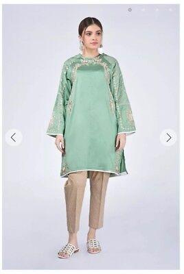 2019 Moda Ethnics Pakistano Ricamato Kurta Taglia X Large 25% Di Sconto Vendita £ 40 Semi Formale-mostra Il Titolo Originale