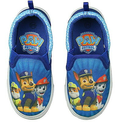 Boys Paw Patrol Canvas Velcro Trainers Shoe Sizes 5-13 Kids Girls New Gift