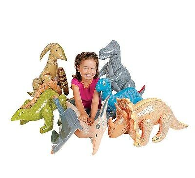 """6 DINOSAURS JUMBO  INFLATABLE DECORATIONS 30"""" NEW assorted 6 styles NEW"""