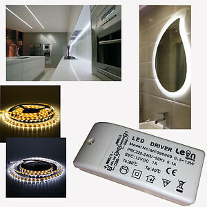 2x Led Under Cabinet Strip Lights Amp 12w Led 12v Driver