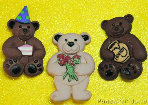 Baby Toys Children Honey Cake Party Dress It Up Craft Buttons BOY TEDDY BEARS