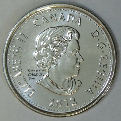 2012 Canada Brock Frosted 25 Cents BU