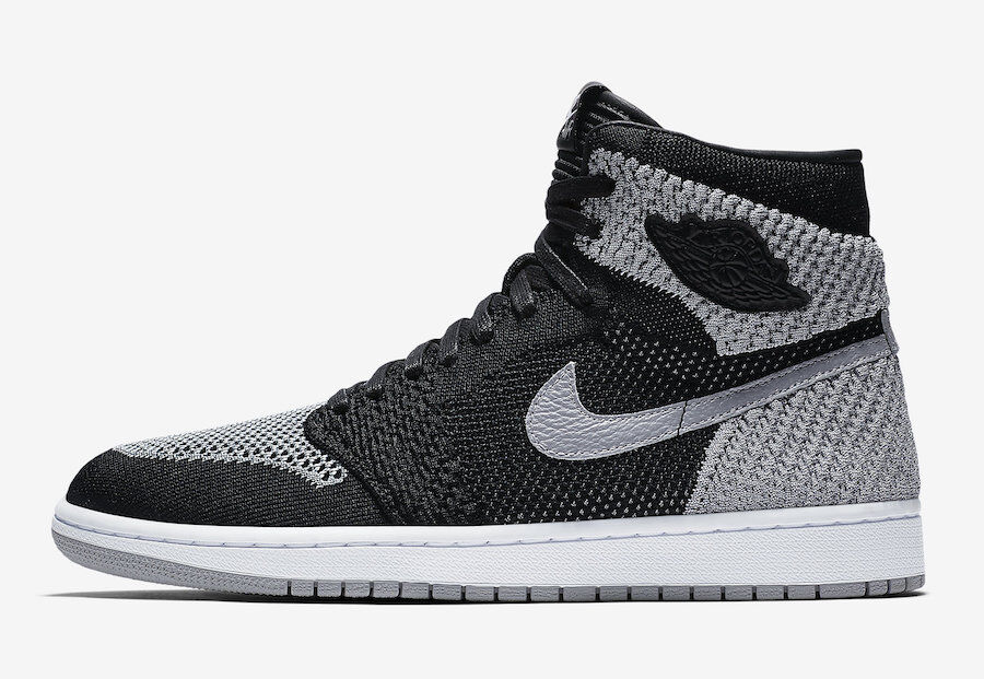 Nike Air Jordan I 1 Retro High Flyknit SHADOW GREY BLACK 919704-003 Price reduction The latest discount shoes for men and women