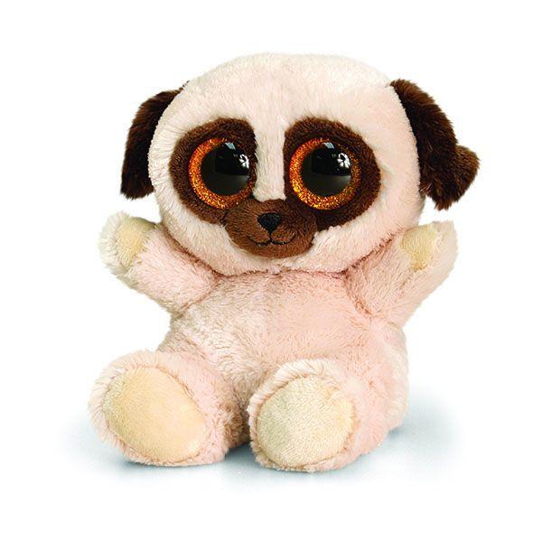Keel Toys Animotsu 15cm Pugsley Pug Dog Beanie Cuddly Soft Toy Plush SF0445