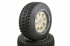 Buster Truck Wheels White Buster Rims Front Pair Fits KM HPI Baja Buggy 1/5th RC