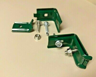 Wand-//Zaunanschlußwinkel Befestigungswinkel RAL6005 grün  Doppelstabmatte Tor