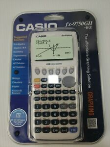Casio-fx-9750GII-Graphing-Calculator-White-New-Sealed