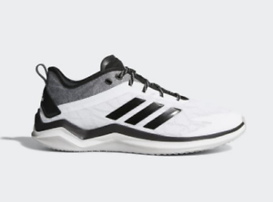 Adidas-Men-039-s-Black-White-Speed-Trainer-4-Athletic-Turf-Baseball-Shoe-cg5134