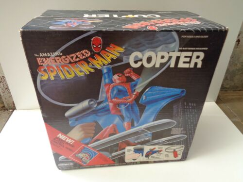 THE AMAZING ENERGIZED SPIDERMAN spider man COPTER REMCO 1978 MISB SEALED BOX