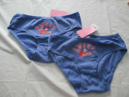 New 2 Pairs of Dorothy Perkins 100/% Cotton SWEET /& DLISH Briefs in Blue  Size 12