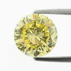 6657 If - Diamant/brillant/synthese 3,30 Ct. Oliv/yellow 8,00 Mm Aaa+ Top ! Exquisite Traditionelle Stickkunst