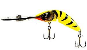 FISHING-LURE-PREDATEK-BOOMERANG-YELLOW-TIGER-65-UD-12g-CAST-OR-TROLL-DEEP-DIVER