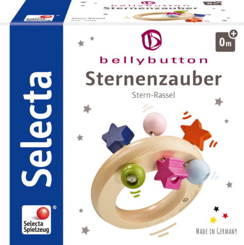 Bellybutton by Selecta Exklusic Holz Greifling Sternenzauber Rassel 64012