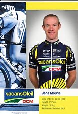 CYCLISME carte cycliste JENS MOURIS équipe VACANSOLEIL