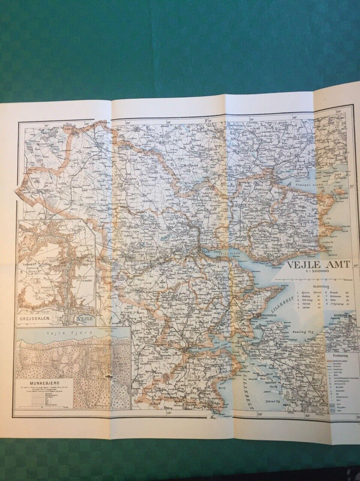 Landkort Gamle Geodaeiske Kort Dba Dk Kob Og Salg Af Nyt Og Brugt