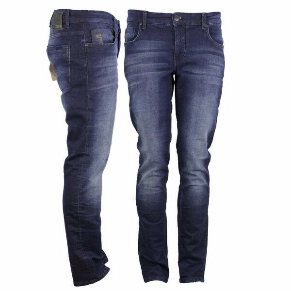 NO EXCESS pantalon jeans slim fit Indigo blue n711jog02 blue foncé
