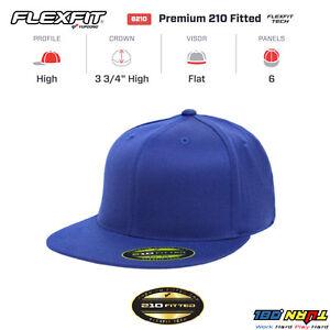 68e710aae4a7f 6210 New Flexfit Yupoong Premium Flatbill Baseball Cap 210 Flat Bill Black  Hat