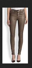 J BRAND SUPER SKINNY GALAXY PEWTER metallic shimmer legging very stretchy jeans