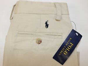 NWT-POLO-RALPH-LAUREN-Size-10-Boy-039-s-Flat-Front-Sand-CLASSIC-FIT-Chino-Pants