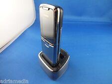 Original Nokia 8800 Edelstahl Silber wie NEU Ausstellungsgerät m Ladestation OVP