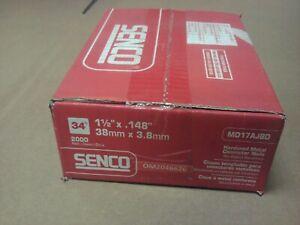 "SENCO MD17AJBD 1-1//2/"" X .145 METAL CONNECTOR NAILS QTY2000"