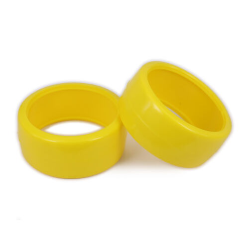 4pcs Smooth Tire Plastic For RC 1//10 On Road Drifting Racing Car W:26mm Yellow