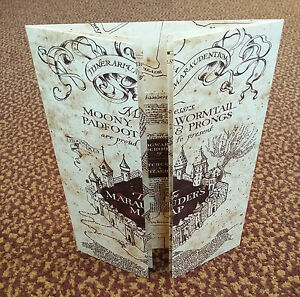 The-Marauder-039-s-Map-Hogwarts-School-of-Witchcraft-amp-Wizardry-Harry-Potter-NEW
