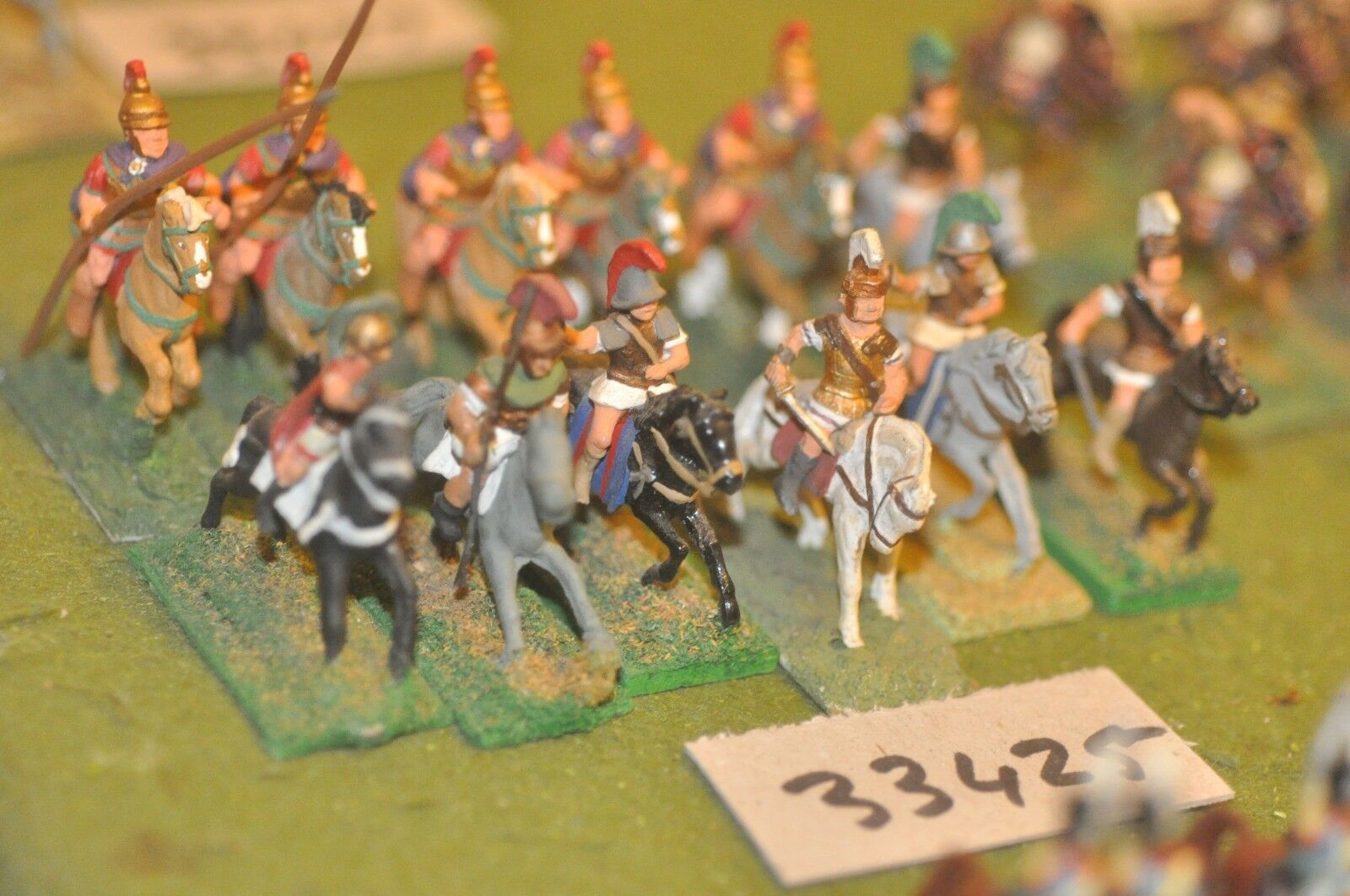 25mm classical   greek - heavy 12 figures - cav (33425)