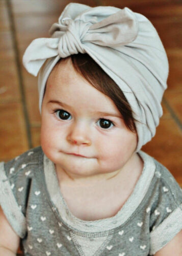 Toddler Newborn Baby Girls Turban Cute Knot Headwrap Beanie Indian Hat Cap Warm