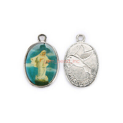 Catholic Religious  Enamel Medals Charms  Pendants Holy Cross 17mm 50Pcs