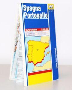 Portogallo Spagna Cartina.Spagna E Portogallo Cartina Stradale 1 800 000 Mappa Carta L A C Ebay