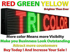 """OUTDOOR LED SIGN 6""""X38"""" 10MM TRI COLOR PROGRAMMABLE SCROLLING TEXT OPEN BOARD"""