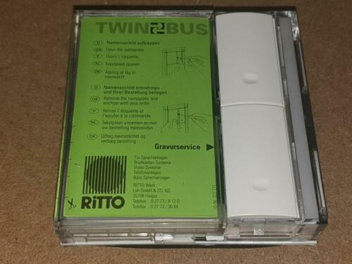 Ritto Touches Module 4752//01 Blanc 2 Touches Sonnerie Palpeur TwinBus Twin Bus 4752//70