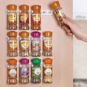 Kitchen-RV-Spice-Gripper-Clip-Strip-10-Jar-Rack-Storage-Holder-Wall-Cabinet-Door
