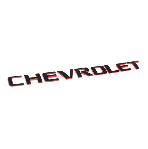 1x OEM Chevrolet Redline Emblem Badge letter Logo for Silverado Original Red  L