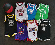 Au Stock Baby basketball jersey infant  romper Jumpsuit Jersey