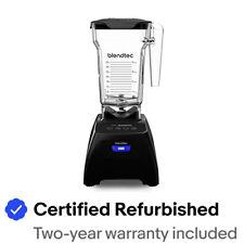 Blendtec Classic Fit Blender FourSide Jar 75oz Black Color Certified Refurbished