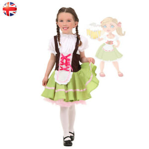 283c89ae32e4f Details about Child German Bavarian Beer Maid Oktoberfest Girls Halloween  Costume Fancy Dress