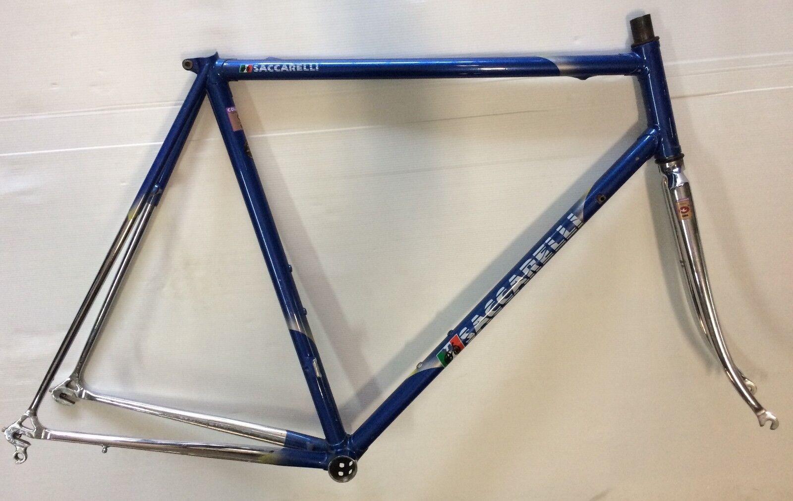 Rahmen Fahrrad Stahl Saccarelli Road Steel Frame Columbus 56 Gemacht in Italien